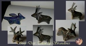 Stag Deer Totem Sculpture.