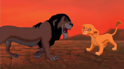 -Scar and Vitani-  -If Scar survived- by TlkSkittles5384