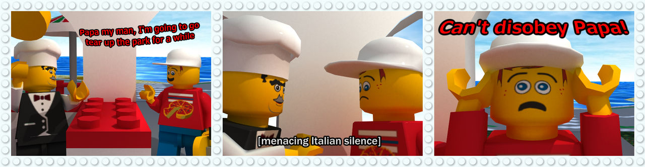 Lego Island Behind the Bricks: Italian Fathers