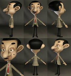 Mr. Bean Cartoon on 3dsMax by IceGirl84