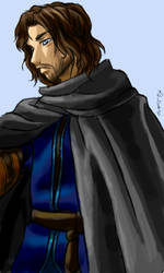 Aragorn oekaki by famira