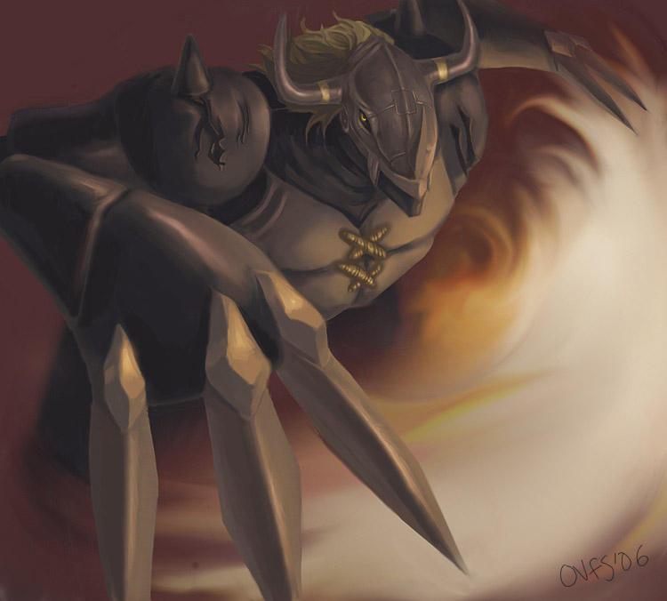 Digimon 02 - Black Wargreymon by famira