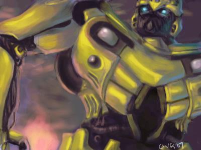 Transformers- Bumblebee Oekaki by famira