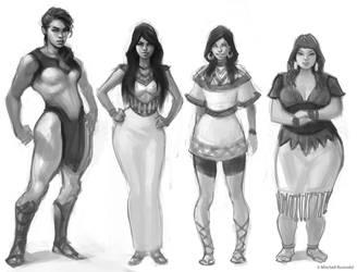 4 female archetype exploration by Rustveld