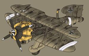 Biplane by spacegoblin