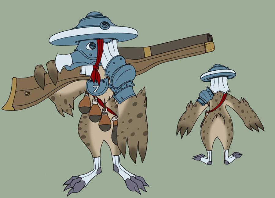 Avian soldier by spacegoblin