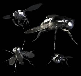 Organic Textured Robotic Fly by ethan-