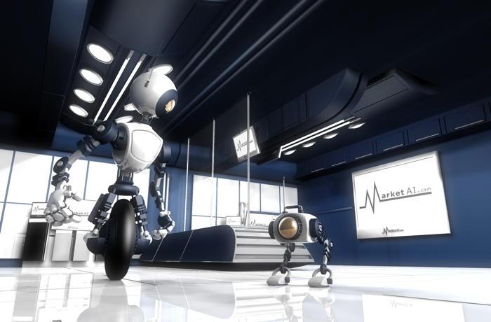 robots ai 3d art