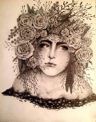 Floral Hair by Inu-Neesan