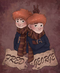 Weasley Twins by Inu-Neesan