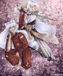 Inuyasha and Sesshomaru by Inu-Neesan