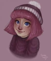Stephanie colored by Inu-Neesan