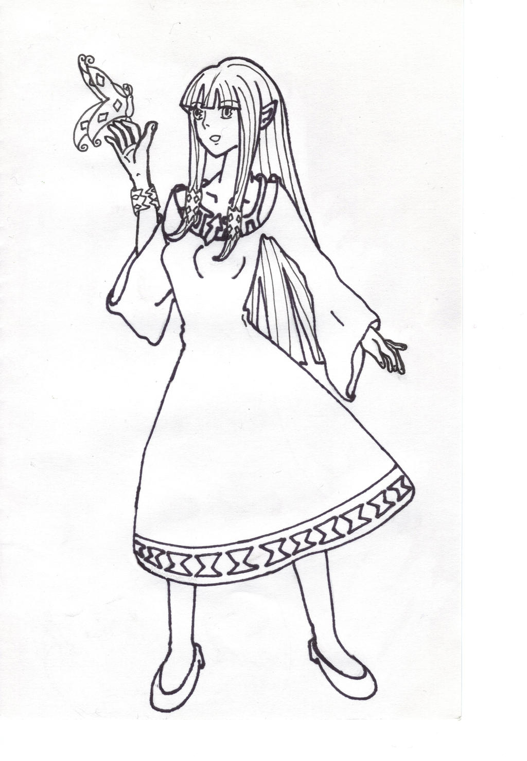 Zelda sky ward sword free colouring pages for The legend of zelda coloring pages