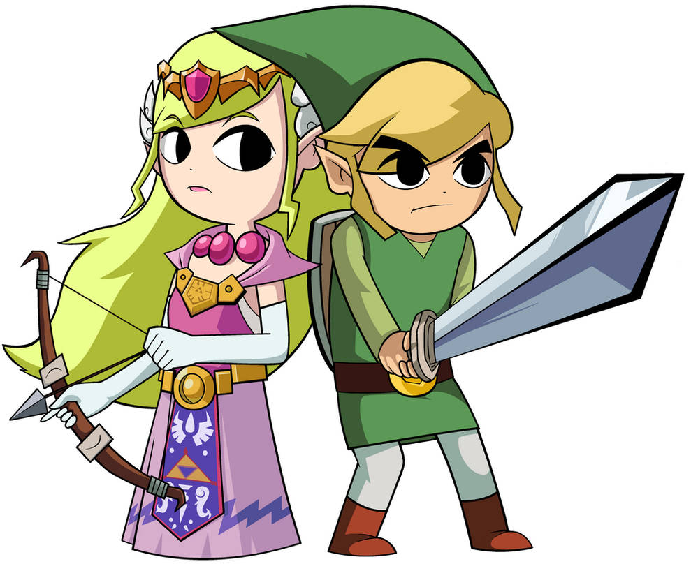 Toon Link And Toon Zelda By Greatlucario On Deviantart