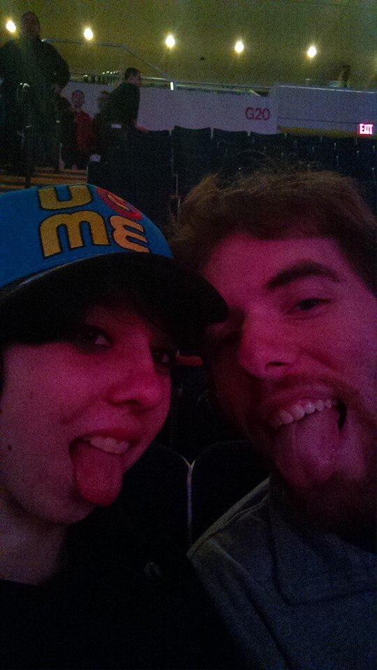 WWE Live House Show selfie with the boyfriend by 1Puppeteer1