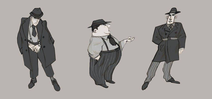 50's character design
