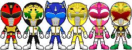 Mighty Morphin Legacy Rangers by tedivanx