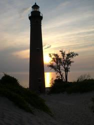 Lighthouse Sunset by SilentStriker24