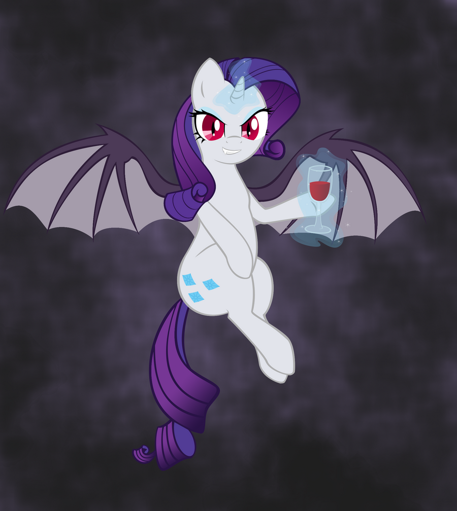 Vampire Rarity (colored) by hellofacopter