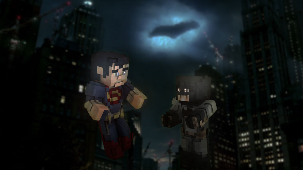 Minecraft Batman v Superman Custom Fan