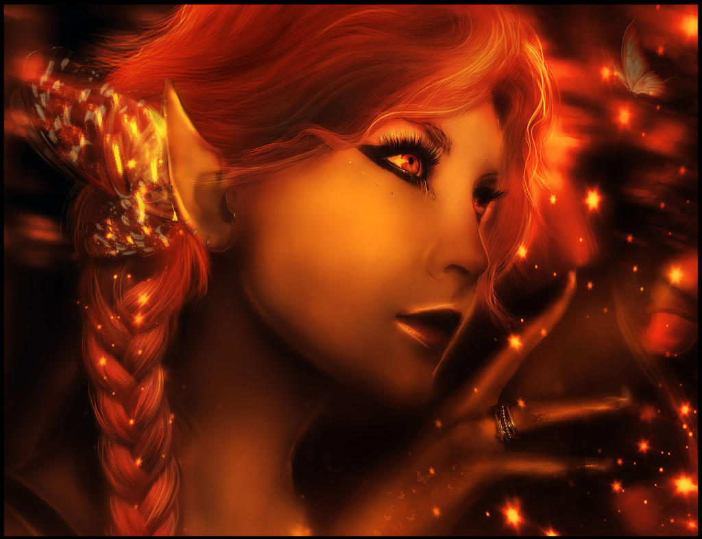 Fire Elf by BreathlessMelodyArt