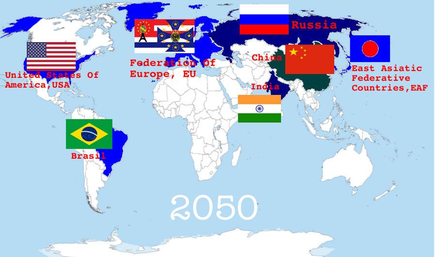 Map Of America 2050.World Powers 2050 By Antoniofl On Deviantart