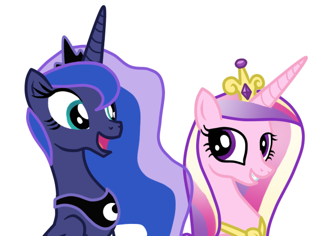 Princess Luna And Princess Cadence by AndreaSemiramis