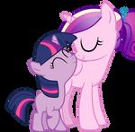 Princess Cadence And Twilight Sparkle(Filly)