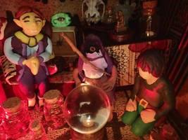 Jars and mask salesman by pythoncasey