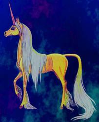 Golden Unicorn - second version by UniKelpieOwl