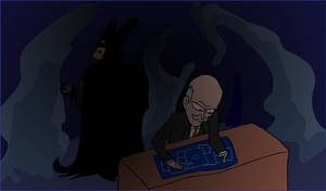 Batman and Alfred by EggHeadCheesyBird