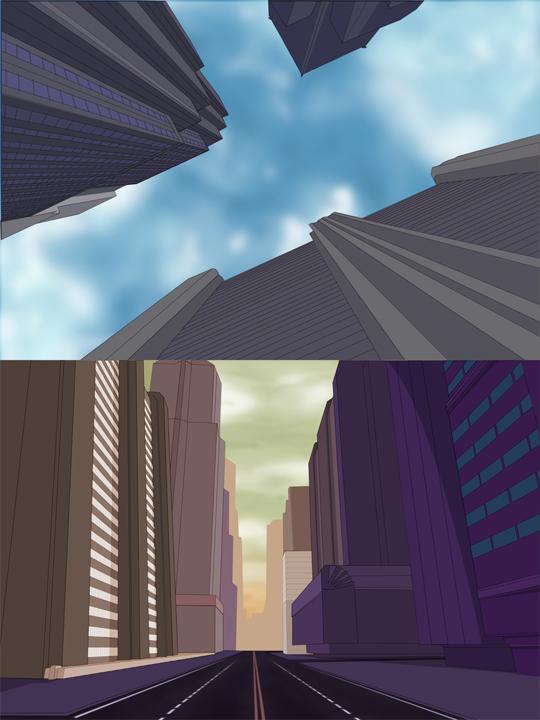 City backgrounds by Juggertha