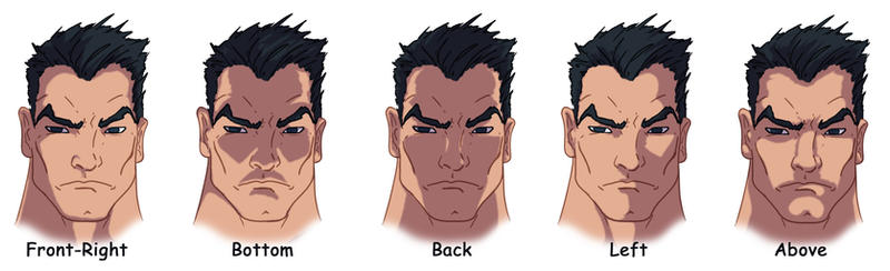 Painting Photoshop Anime Face Shading
