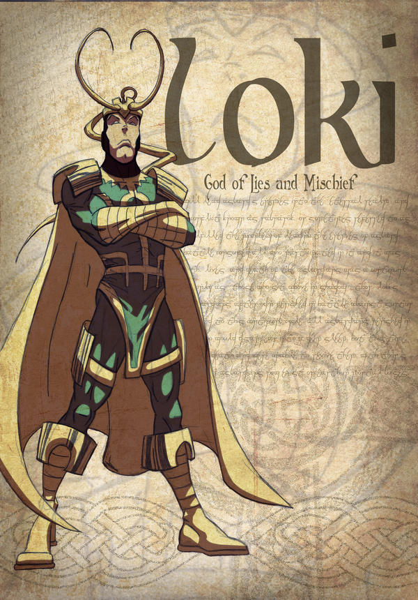 Loki  God of Lies and Mischief by Juggertha