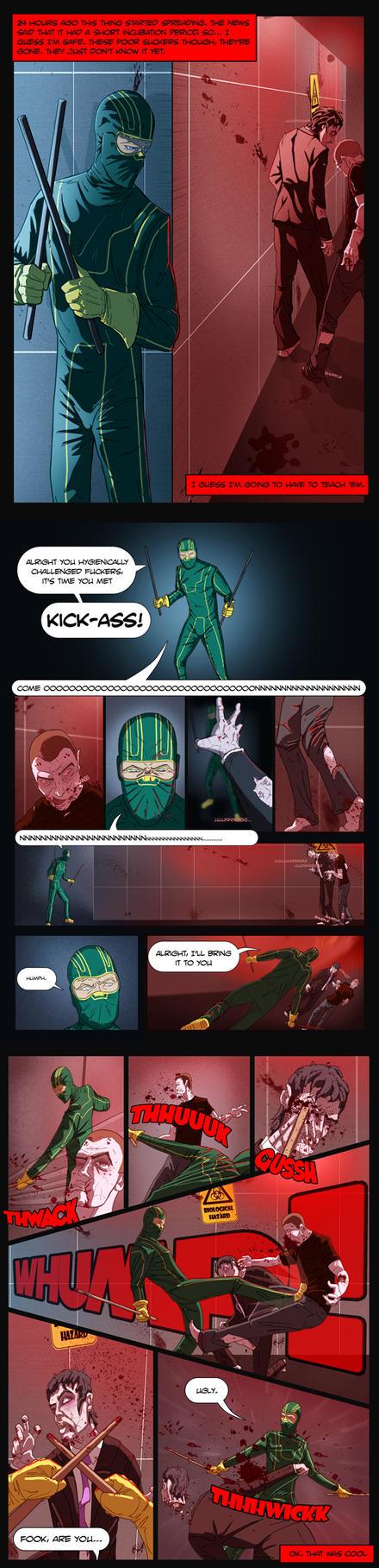 Kick-Ass vs The Zombies by Juggertha