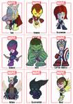 Avengers Chibi sheet 1