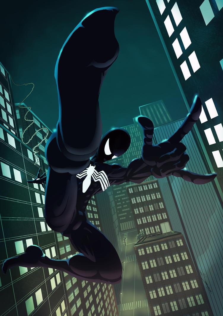 The amazing spider man black suit - photo#25