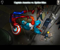 Captain America vs Spiderman by Juggertha