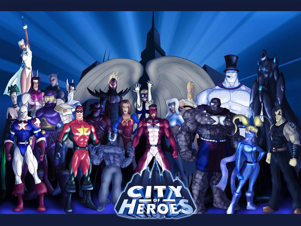 City of Heroes Wallpaper by Juggertha