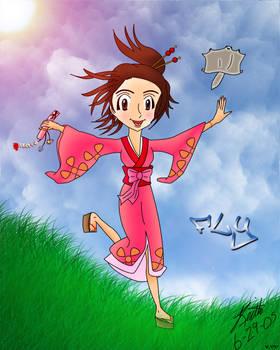 Fuu + Momo Colored Line Art