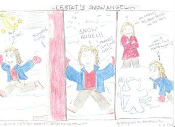 Lestat's Snow Angel by wolfMancub