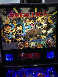 Metallica pinball black glass