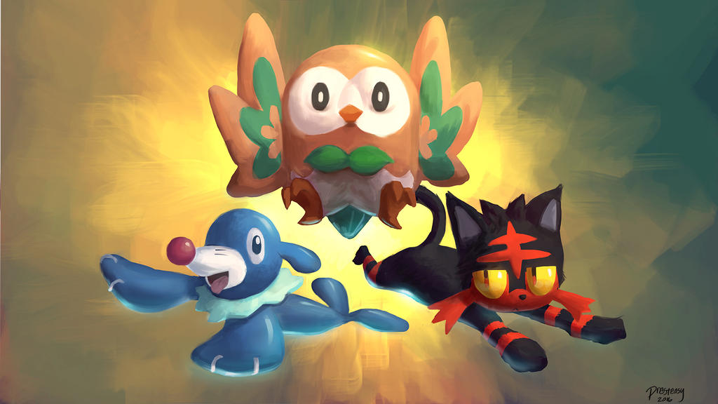 Pokemon Sun And Moon Wallpaper: Pokemon Sun/Moon Starters By Presteasy On DeviantArt