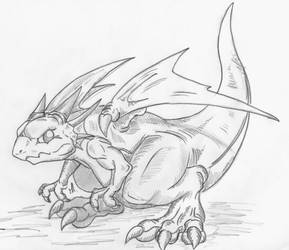 Breath of Fire 3 baby dragon
