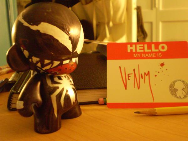 Munny: Venom -front- by ScarecrowArtist