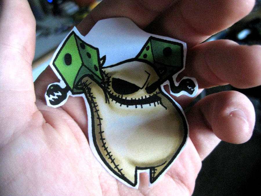 Oogie Boogie Costume Oogie Boogie Chibi Keychain by