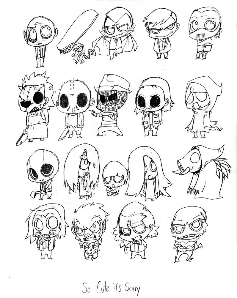 31DOH:5 So Cute They're Scary by ScarecrowArtist on DeviantArt