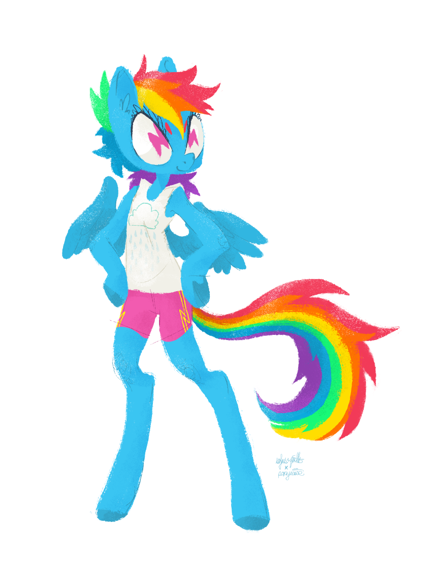 sofasandquills x ponywise: Rainbow Dash by sofas-and-quills