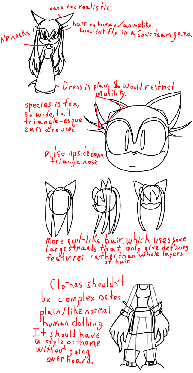 Character Design Course Description : Sonic character study by goldtaills on deviantart