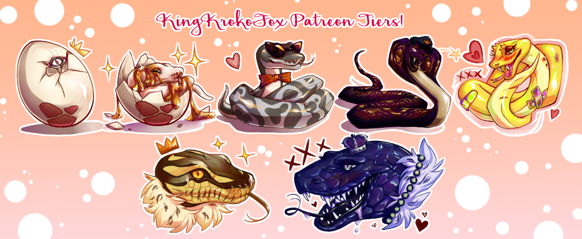 Patreon Tier Sneks by KingKrokoFox